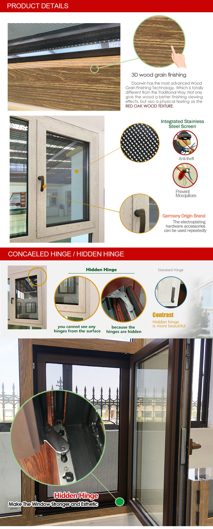 Dual pane tilt turn window double glass cheap price windows