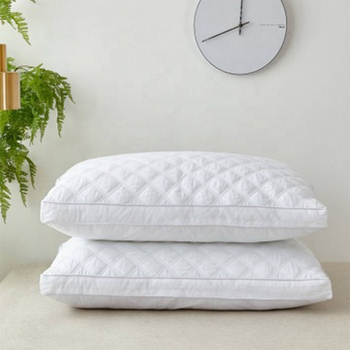 Home Hotel Comfortable Sleeping Feather Down Pillow Memory Foam Bedroom Square Pattern Pillows
