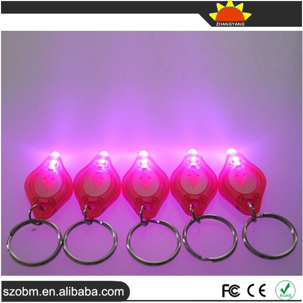 Plastic Pink Light 12000-14000mcd LED Keychain Light Accouterment