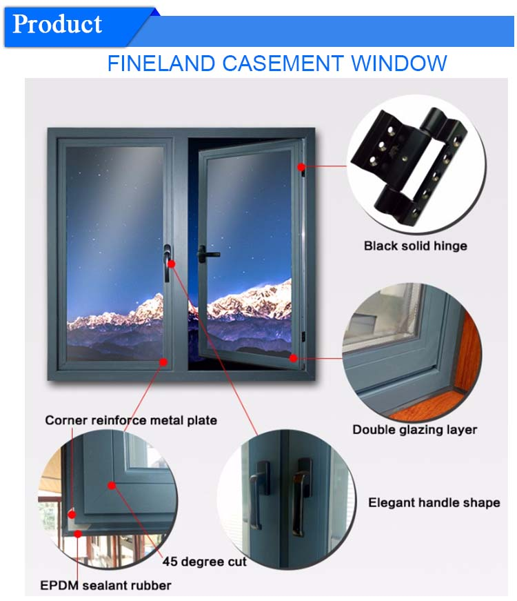 China Supplier Insulated Casement Windows New Windows And Doors Balcony French Windows