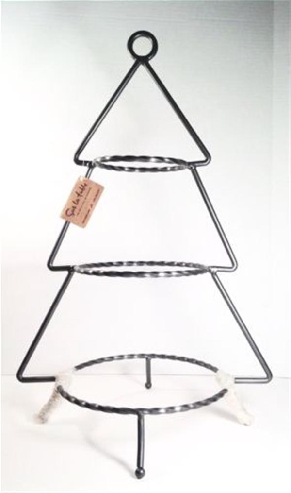 arbol de navidad forma tier metal hierro forjado taza bases para pastel