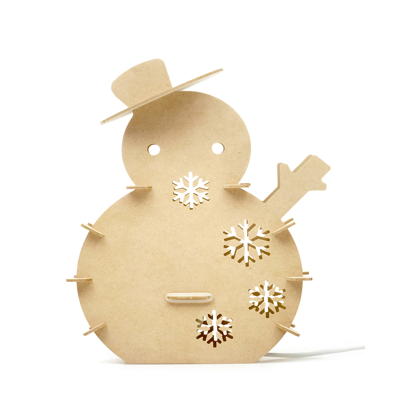 Creative WOOD Arts minimalist table lamp with dimmer  DIY Snowman night lamp/Christmas tree shape light for home decor
