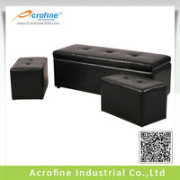 Acrofine faux leather folding storage ottoman with multisize AOT 3039