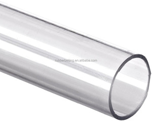 Plastic polycarbonate PC PVC transparent clear tubing pipe for industrial