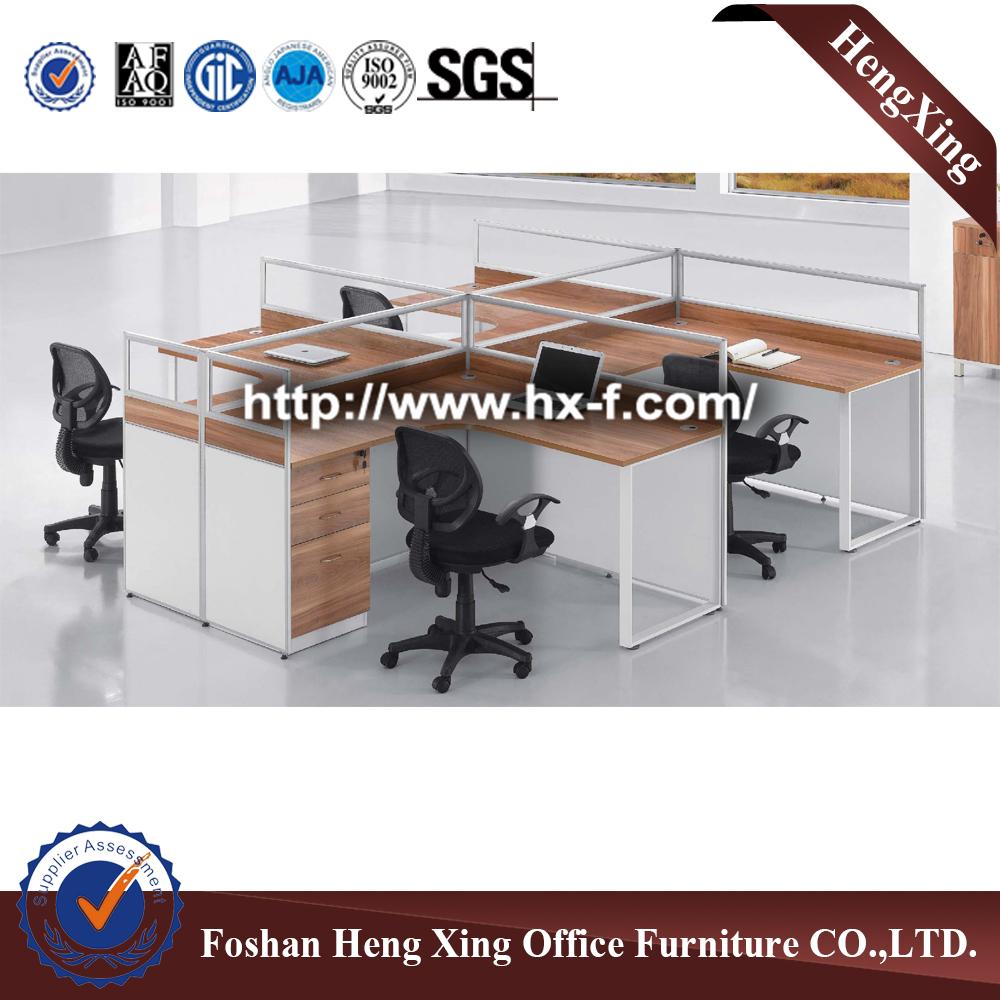 Office Desk L Shaped Staff Computer Desk Aluminum Office Partition  Workstation (HX PT5025)