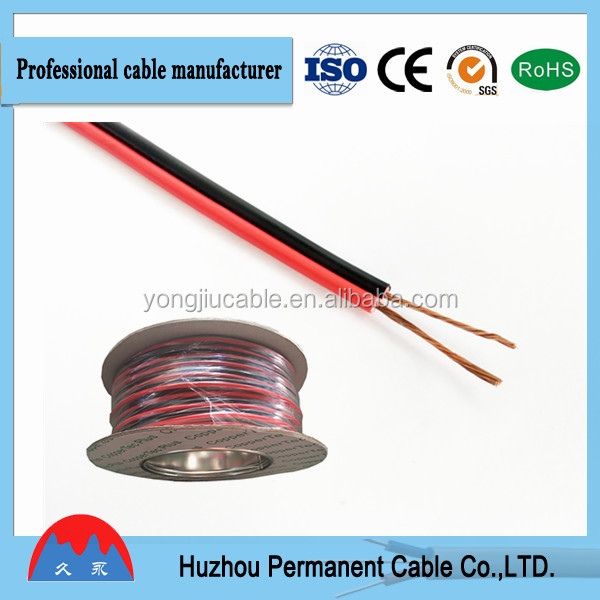 speaker cable 2core red&black speaker wire cca used in stereo and radio as lead cable