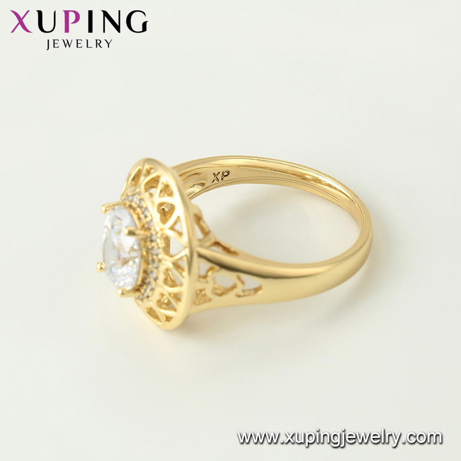 15678 xuping single stone engagement pakistani jewelry women rings