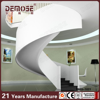 Perfect White Cast Iron Material Used Spiral Staircase Circular Stairs