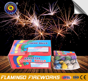 "Brilliant quality Clay Color 1"" Smoke Balls daytime fireworks"