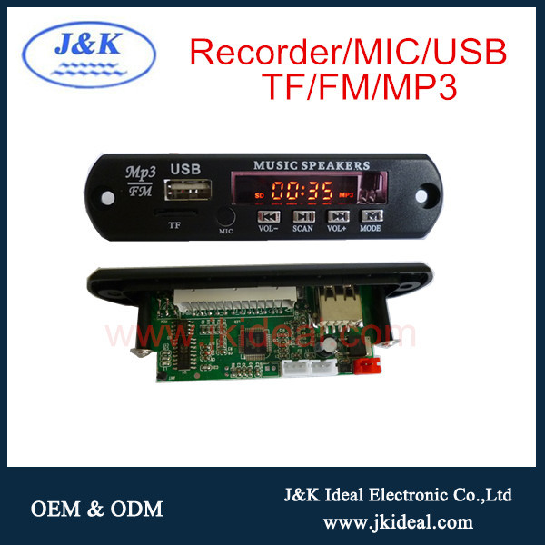 Jk3090 Audio Recorder Amplifier Mp3 Usb Sd Circuit Board