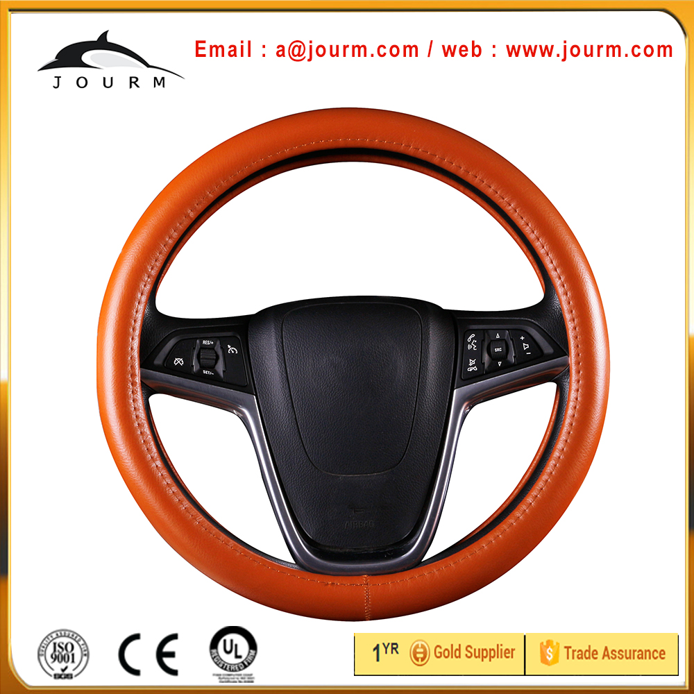 fashionable genuine leather steering wheel cover for kias sportage parts