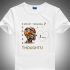 Mens Birthday Gift men's diy t shirt 100% Cotton Print t shirts .Design Shirts
