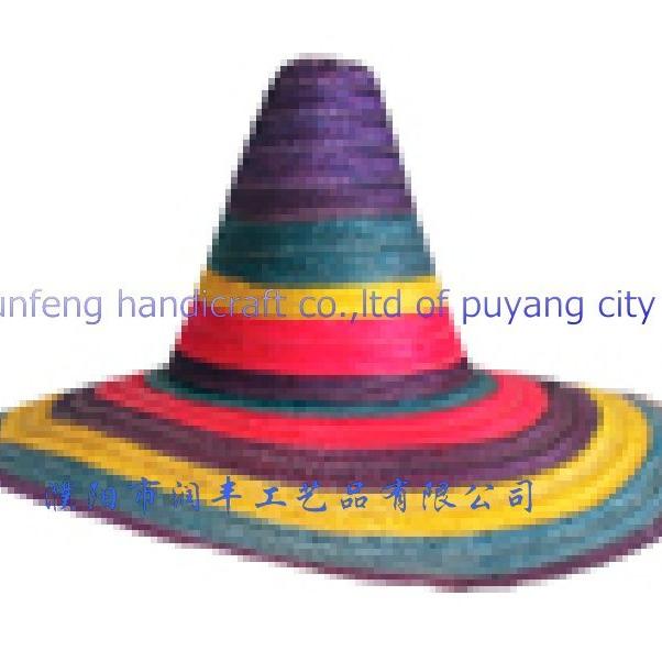 Customized Colorful Sombrero Mexican Straw Wide Brim Hat - Buy ... 9df1578e8fe