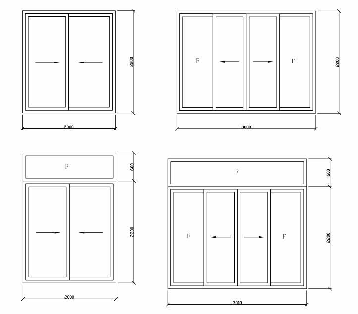 Top quality aluminum large sliding glass doors top hung for Types of sliding glass doors