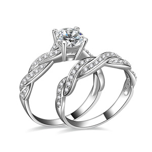 New Peace hot selling 925 silver Diamond Engagement Rings for couple