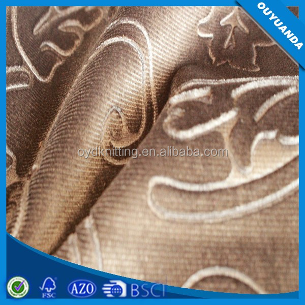 Export Turkey Market Fabric Cheap Price 3D Embossed Sofa Fabric Embossed Curtain Upholstery Fabric