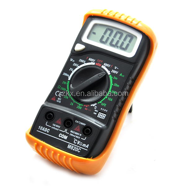 Hot Sell Blister Package M820C Digital Multimeter 600V With Temperature Measurement DH Backlight