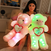2017 wholesale fashionable cute stuffed toy led plush teddy bear