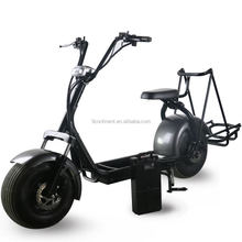 plastic foot stand removable battery fat wheel electric Scooter motor bike with golf bag holder