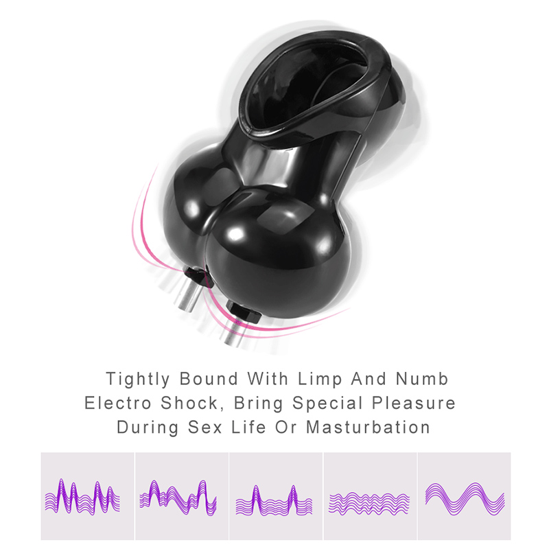 Adult Toys Electro Shock Chastity Cage Penis Ring Sex Toys For Men Scrotum Sleeve Ball Stretcher Electric Cock Ring Cock Cage