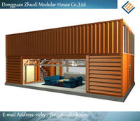 Prefab house overseas shipping container supplier with SGS Certificate