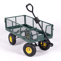heavy duty mesh nursery wagon yard garden cart