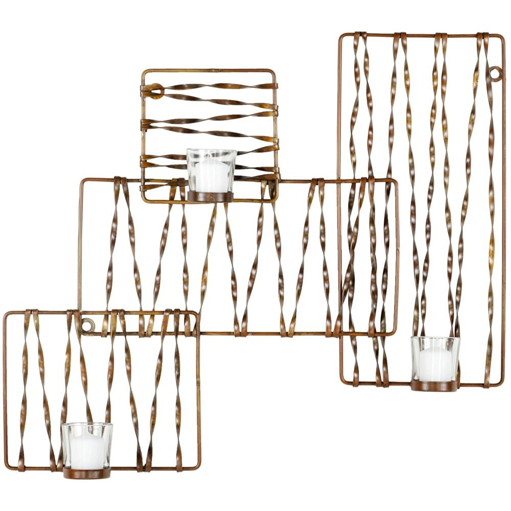 Safavieh Wall Art Collection Art Deco Zig-Zag Candle Holder Wall Sconce