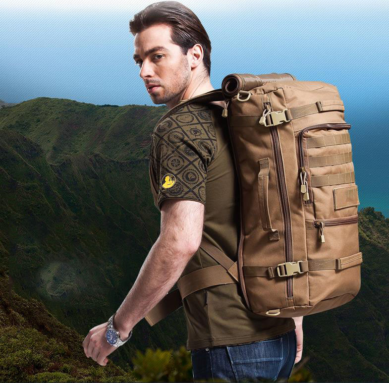 55L oxford trekking waterproof backpack bag outdoor hiking sport backpack travelling