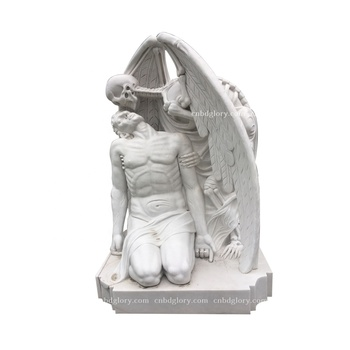 New product stone sculpture Life Size marble Mourning angel statue