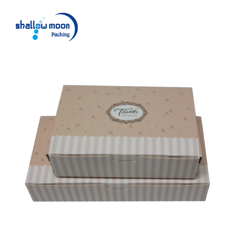 Custom logo printing decorative festival sushi packaging paper boxes cardboard folded rectangle design cupcake box