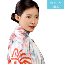 Factory direct custom square satin lady silk scarf with low price