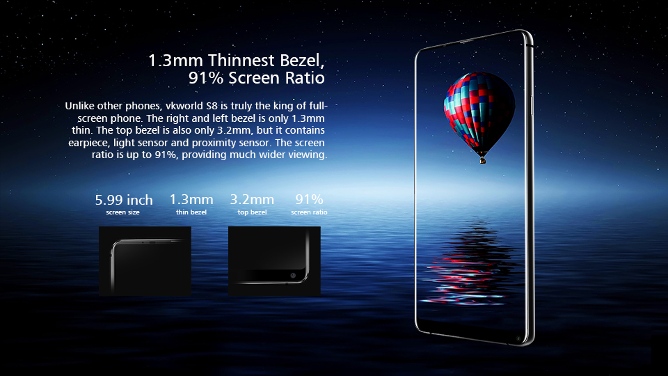 "Latest Fashion Design Style 4G China Smartphone 5.99"" FHD+ 2160*1080 VKWORLD S8 Octa Core New Mobile Phone Cell phone mobile"