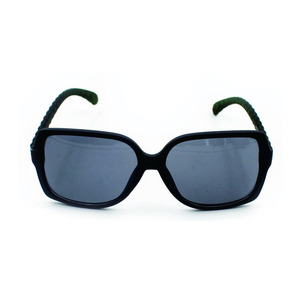 Fantastic temple rubber frame black vintage sunglasses