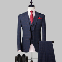 New design formal coat 100% Wool 3 piece suit for man