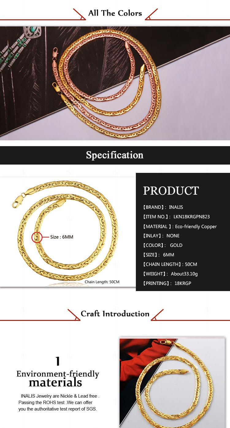 China Ali Gold Supplier Different Styles Tin Alloy Gold Cuban Link ...