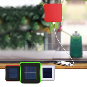 Portable Solar Car Window Mobile Phone Charger 1800/2600/5200mAh Solar Backup Battery Power Bank With Suction Power for Mobile