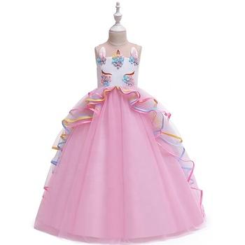 Los Niños Unicornio Vestido De Noche Ropa Para Niños Niñas Fiesta Malla Elegante Vestidos Para Niña 3 12 Años Buy Vestido De Noche Unicornio Para