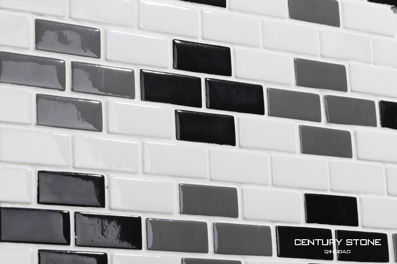 Vendita calda cucina di design mattonelle bianche e nere