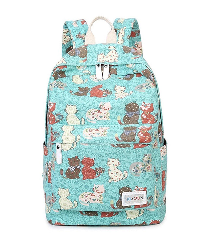 Fueken College School Book Bags Canvas Womens Cute Backpacks for Teen Girls 32ba7ae2e6