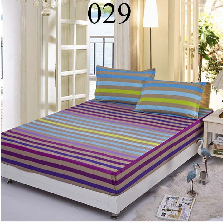 colorful stripes twin full queen size fitted sheets bedsheet bedspread protective sleeve slip. Black Bedroom Furniture Sets. Home Design Ideas