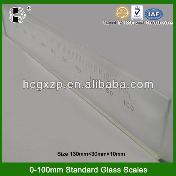 Highly Accuracy Precision measuring instruments 100mm Optical glass ruler
