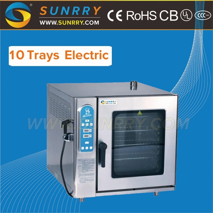 Professional commercial electric combi steam oven with 10 trays(SY-CV10B SUNRRY)