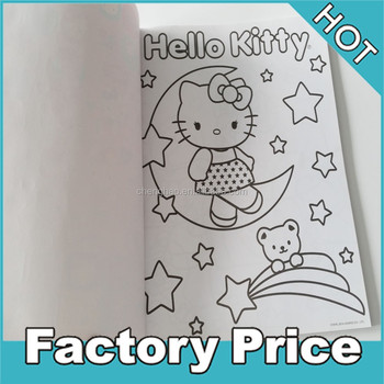 Custom Printed Paper Coloring Books And Crayons With Stickers For ...