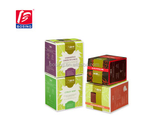 New design custom tea bags paper packaging boxes