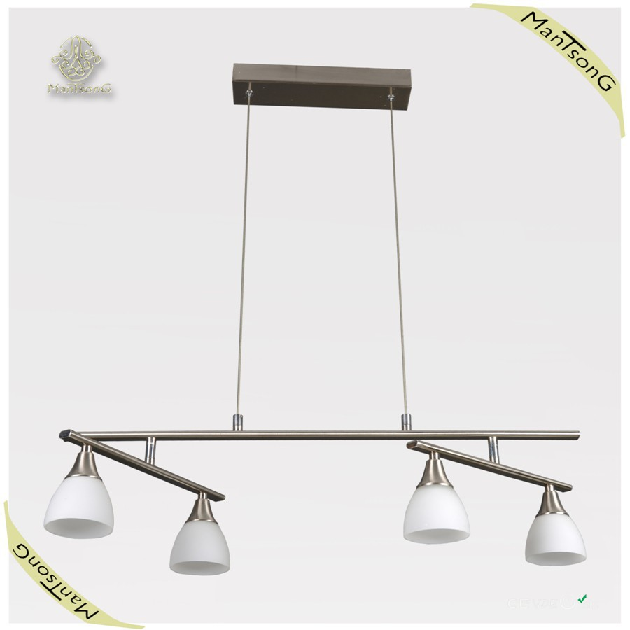Simple Style Pendant Lights Led modern Hanging,Satin Nickel Plated Pendant Lamp