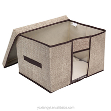 See Clear Large Eco-friendly Canvas Container; Durable Folding Storage Box Container