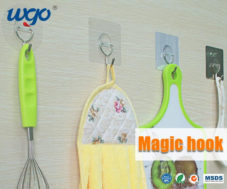 Super Lijm Haken Sticky Muur Hanger Magic Herbruikbare Keuken Haken