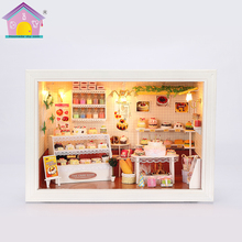 Hoomeda Exquisite <span class=keywords><strong>DIY</strong></span> Haus Miniatur Dollhouse Kits <span class=keywords><strong>Küche</strong></span> Zimmer