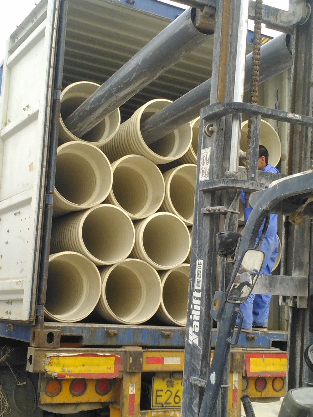 Double wall pvc corrugated pipe for sewage