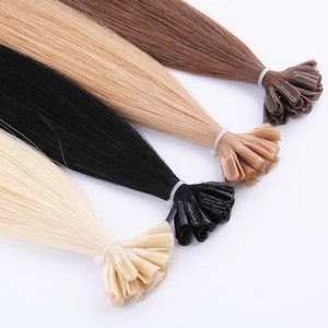 I V U Tip Pre Bonded Hair Extensions 1g Stick Tip Cold Fusion Hair 100% Virgin Full Russian Cuticle Remy Human Hair Extension